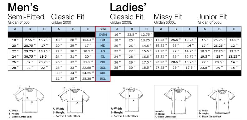 Pin gildan size chart on pinterest for Gildan t shirt size chart